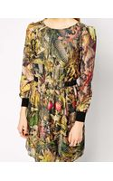 Traffic People Blooms Of The Forest Silk Dress - Lyst