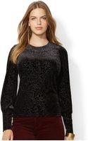 Lauren by Ralph Lauren Plus Size Paisley-print Velvet Top - Lyst