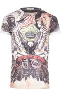 River Island Brown Navajo Printed T-shirt - Lyst
