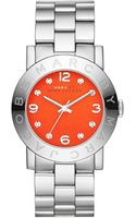 Marc By Marc Jacobs 36mm Amy Crystal Analog Watch with Bracelet Strap Stainlessred - Lyst