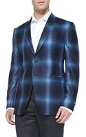 Paul Smith Shadow Plaid Two Button Jacket - Lyst