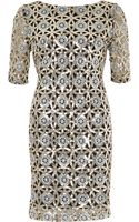 River Island Silver Sequin Bodycon Dress - Lyst