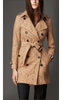Burberry Cotton Blend Lace Trench Coat - Lyst