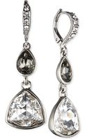 Givenchy Rhodiumtone Crystal Trillion Double Drop Earrings - Lyst
