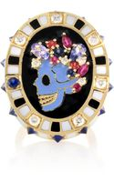 Holly Dyment Saturday Enamel Skull Ring - Lyst
