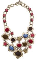 Betsey Johnson Woodland Cs Multi Bead Bib Necklace - Lyst