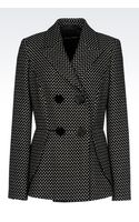 Emporio Armani Doublebreasted Jacket with Polka Dot Design - Lyst