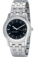 Gucci Stainless Steel and Leather Watch - Lyst