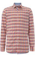 Hackett Long Sleeve Check Shirt - Lyst