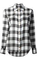 Balmain Checked Shirt - Lyst