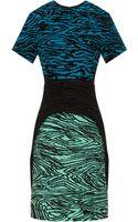 Proenza Schouler Flock Wood Grain Dress - Lyst