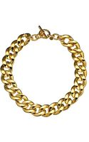 Michael Kors Curb Chain Toggle Necklace - Lyst