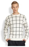 T By Alexander Wang Grid Intarsia Sweater - Lyst