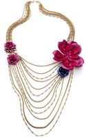 Erickson Beamon Urban Jungle Draping Necklace Gold Multi - Lyst