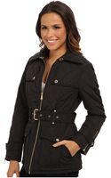 MICHAEL Michael Kors Belted Quilted Jacket - Lyst