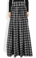 Michael Kors Taos Plaid Silkblend Taffeta Maxi Skirt - Lyst