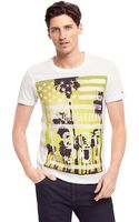 Tommy Hilfiger Vneck Graphic Tee - Lyst