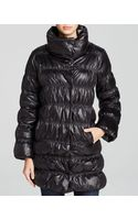 Eileen Fisher Ruched Puffer Coat - Lyst
