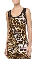 Natori Leopard Print Slinky Jersey Cami - Lyst
