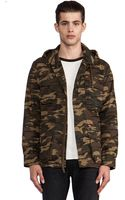 Obey Fields Jacket in Army - Lyst