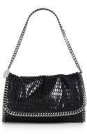 Stella McCartney Falabella Flapfront Net Overlay Shoulder Bag - Lyst