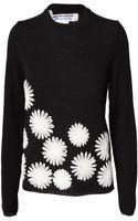 Comme Des Garçons Floral Stitch Wool Jumper Black - Lyst