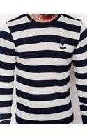 Diesel Long Sleeved Top Tcolty Stripe - Lyst