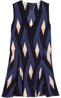 Marc By Marc Jacobs Diamond Flame Silk V Neck Dress - Lyst