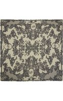 McQ by Alexander McQueen Black and White Engineered Lace Silk Scarf - Lyst
