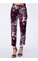 Missguided Tirema Floral Print Trousers - Lyst