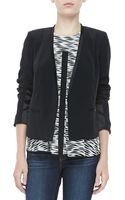 Elizabeth And James Bryant Crepe Open Jacket Black - Lyst