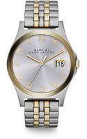 Marc By Marc Jacobs Henry Slim Two Tone Stainless Steel Bracelet Watch - Lyst