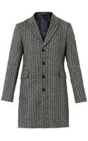 PS by Paul Smith Zigzag Herringbone Wool Coat - Lyst