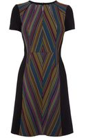 Karen Millen Stripe Shift Dress - Lyst