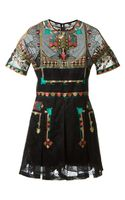 Valentino Embroidered Lace Dress - Lyst