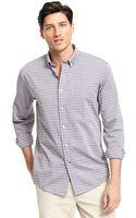 Tommy Hilfiger Classic Fit Horizontal Stripe Shirt - Lyst