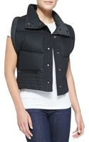 Donna Karan New York Reversible Down Vest - Lyst