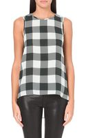 Rag & Bone Harper Checked Silk Top - Lyst