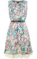Cutie Painted Flower Print Dress - Lyst