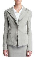Donna Karan New York Layered Lapel Linenblend Jacket Hemp - Lyst
