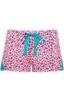 Pretty Polly Shorts Sleep Leopard Print Shorts - Lyst