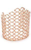 Alexis Bittar Barber Linked Cuff Bracelet Rose Gold - Lyst