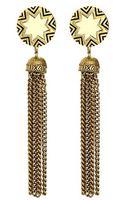House Of Harlow Sunburst Tassel Earrings - Lyst