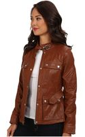 Lauren by Ralph Lauren Monza Leather Jacket - Lyst