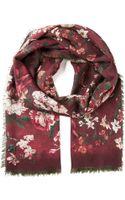 Valentino Floral Print Scarf - Lyst