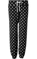 3.1 Phillip Lim Cotton Polka Dot Sweatpants - Lyst