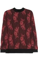 Clements Ribeiro Alice Lace-covered Wool Sweater - Lyst