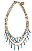 Giles & Brother Stone Fringe Multi Chain Necklace - Lyst