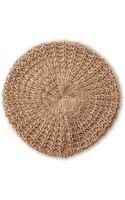 Steve Madden Knit Glitter Beret - Lyst