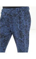 Noё Ta Printed Blue Trousers - Lyst